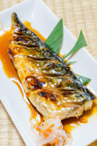 Saba fish grill with japanese sauce