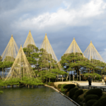 Kenrokuen Garden in Kanazawa, Japan