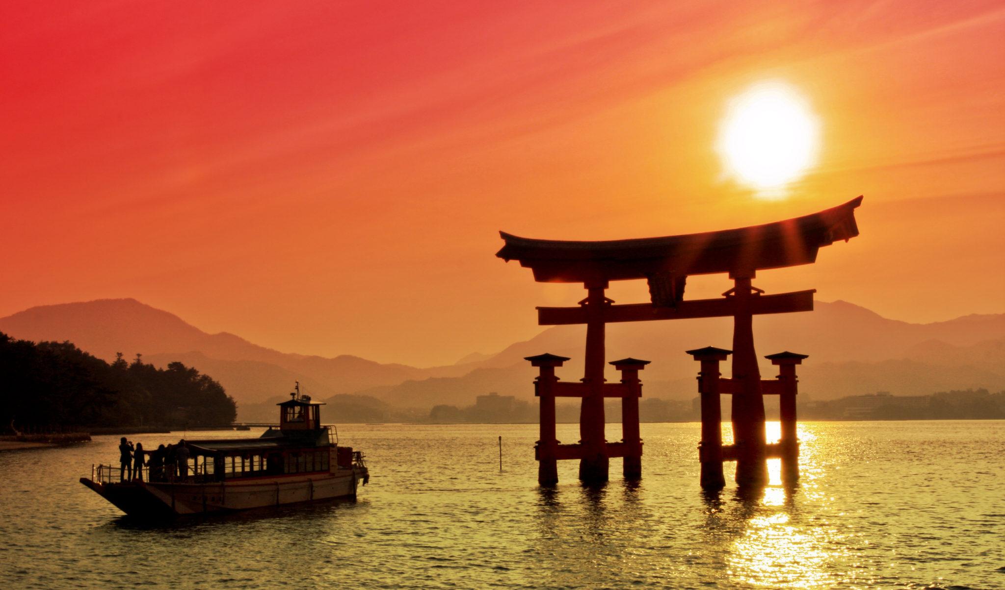 Wedding Destination - Torii Gate in Miyajima