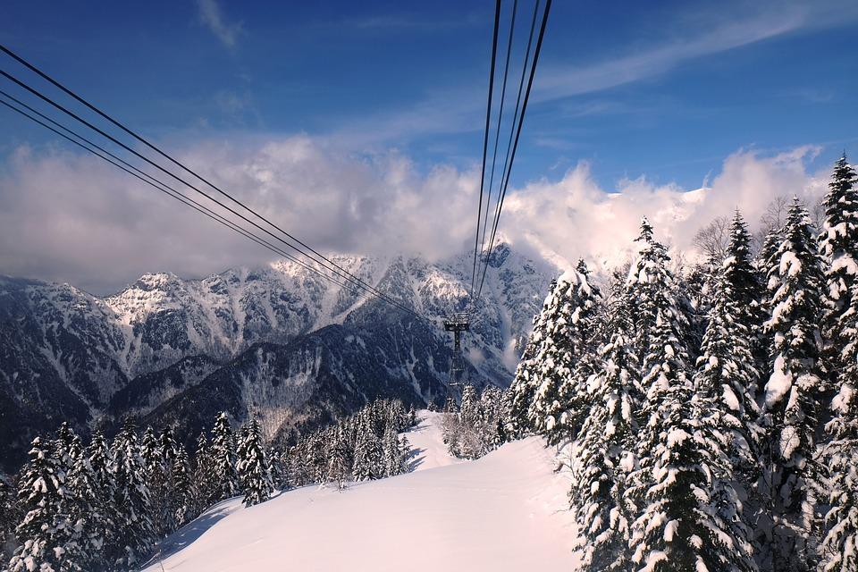 Japan Alps Snow Cable Car